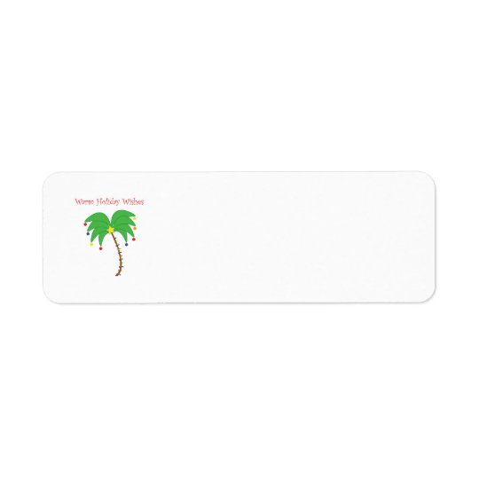 """""""Warm Holiday Wishes"""" Palm Tree labels"""