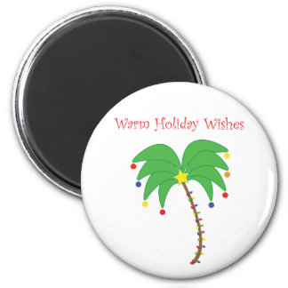 """Warm Holiday Wishes"" Palm Tree magnet"