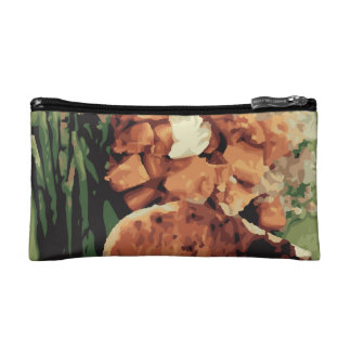 Warm Homemade Potatoes and Green Beans Cosmetics Bags