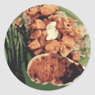 Warm Homemade Potatoes and Green Beans Stickers