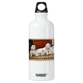 Warm Labrador Puppies Water Bottle