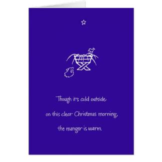 Warm Manger Card