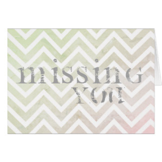 Warm Missing You Line Pattern Card