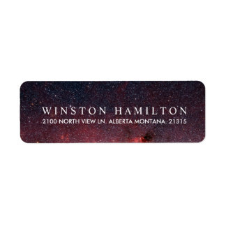 Warm Nebula | Personalized Return Address Return Address Label