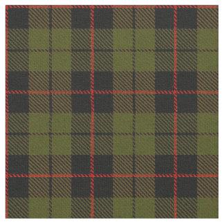 Warm O.D. green plaid red, black stripe Fabric