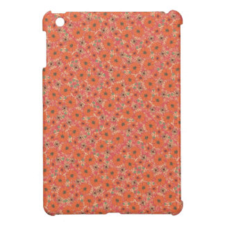 Warm Orange Flower Confetti iPad Mini Cases