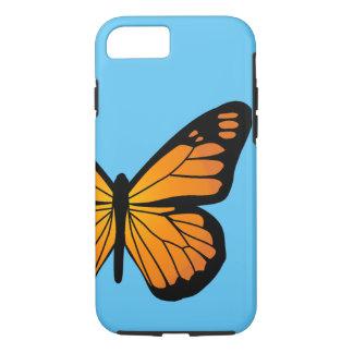 Warm Orange Glow Butterfly iPhone 7 Case