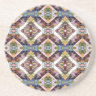 Warm Pastel Tribal Pattern Coasters