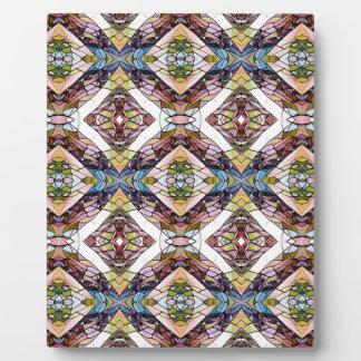 Warm Pastel Tribal Pattern Plaque