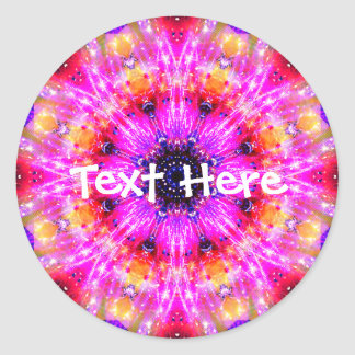 Warm Pink Mandala Classic Round Sticker