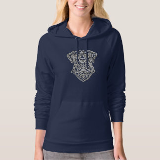 Warm Pullover With Great Dane Sugar Skull Design
