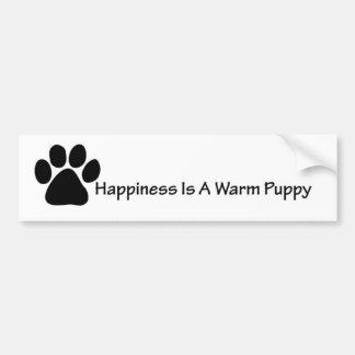 Warm Puppy Bumper Sticker