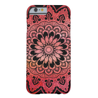 Warm Red Pink Waterecolor Mandala Barely There iPhone 6 Case
