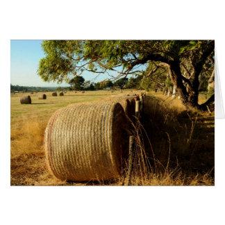 warm rural scene card