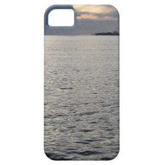 Warm sea sunset with cargo ship at the horizon barely there iPhone 5 case