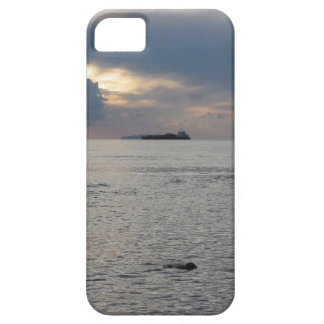 Warm sea sunset with cargo ship at the horizon case for the iPhone 5