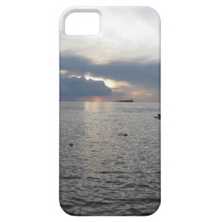 Warm sea sunset with cargo ships iPhone 5 case