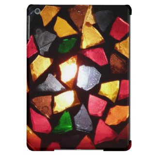 Warm Shimmer Light Through Colorful Mosaic Glass Cover For iPad Air