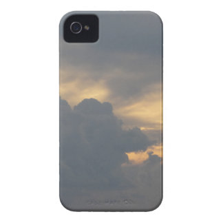 Warm sky with giants cumulonimbus clouds at sunset Case-Mate iPhone 4 cases