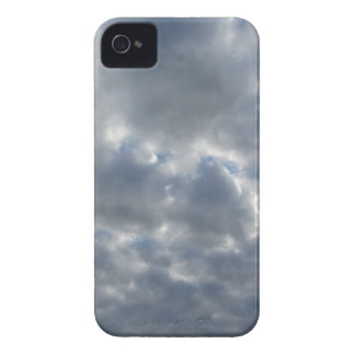 Warm sky with giants cumulonimbus clouds at sunset iPhone 4 Case-Mate cases