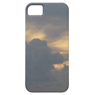 Warm sky with giants cumulonimbus clouds at sunset iPhone 5 covers