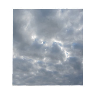 Warm sky with giants cumulonimbus clouds at sunset notepad