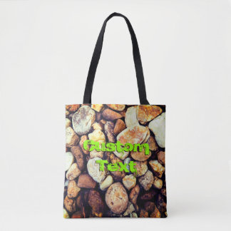 Warm Stones | Custom Text Tote Bag