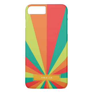 Warm Summer Personalized Name Color Wheel iPhone 7 Plus Case