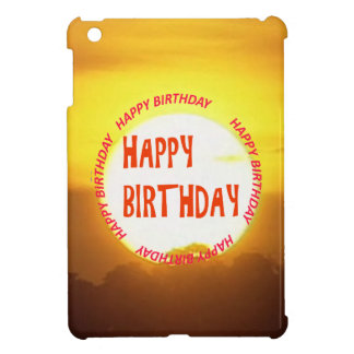 Warm Sunset Golden Horizons HAPPY birthday iPad Mini Covers