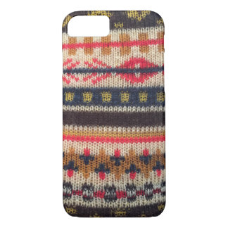 Warm Sweater Pattern Red Blue iPhone 7 iPhone 8/7 Case
