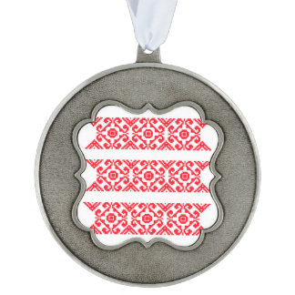 Warm Sweet Collection Scalloped Pewter Ornament