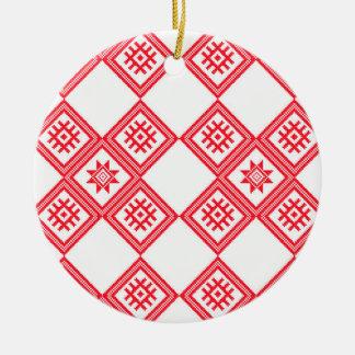 Warm Sweet Collection Round Ceramic Decoration