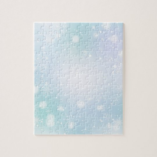 Warm Teal and Purple  Winter Wonderland Snowflakes Jigsaw Puzzle