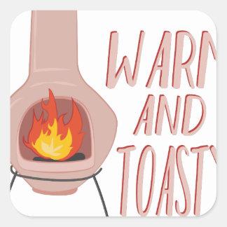 Warm & Toasty Square Sticker