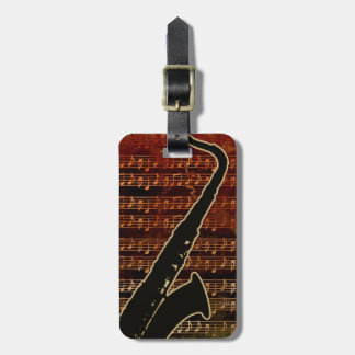 Warm Tones Saxophone ID280 Luggage Tag