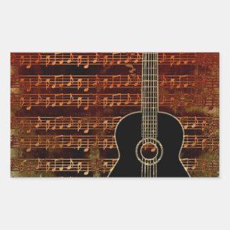 Warm Tones Rectangular Sticker