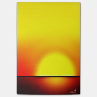 Warm Tropical Sunset Memo Pad © AH 2015 Post-it Notes