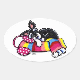 Warm Up Little Schnauzer Stickers