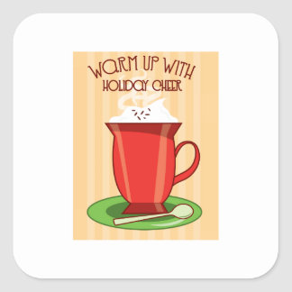 Warm Up With Holiday Cheer Square Sticker