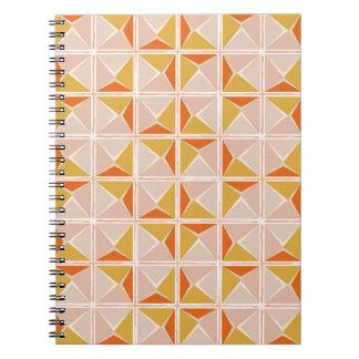 Warm Vintage Geometric Pattern Notebooks