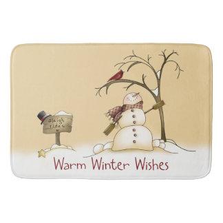 Warm Winter Wishes Bath Mat