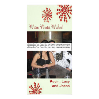 Warm Winter Wishes Holiday Photo Card