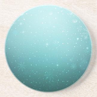Warm Winter Wonderland with Snowflakes Sandstone Coaster
