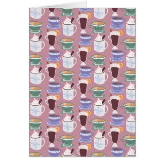 Warm Wintery Drinks Print Card
