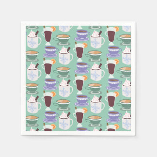 Warm Wintery Drinks Print Paper Serviettes