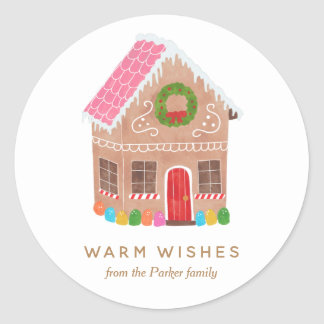 Warm Wishes Classic Round Sticker