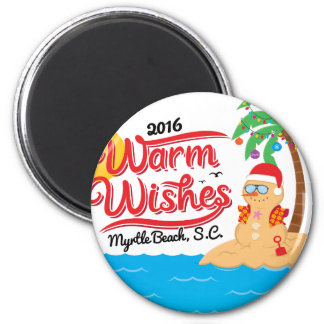 Warm Wishes From Myrtle Beach Magnet
