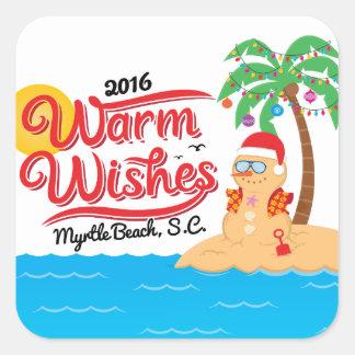 Warm Wishes from Myrtle Beach Square Sticker
