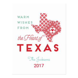 Warm Wishes from the Heart of Texas Postcard