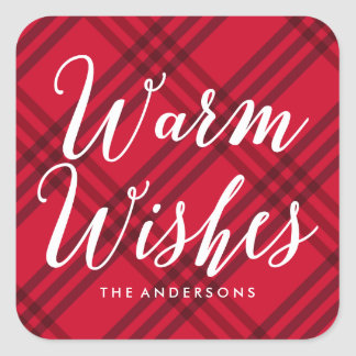 Warm Wishes   Holiday Stickers